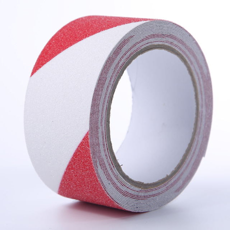 Red And White Non Slip Self-adhesive Tape