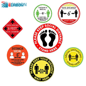 EONBON Free Sample Vinyl Social Distancing Sticker/
